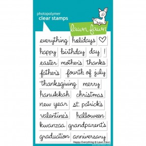 Lawn Fawn Clear Stamps - Happy Everything