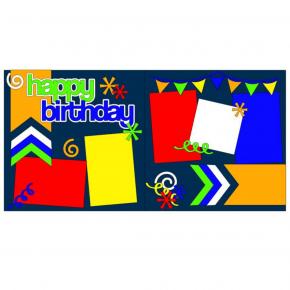 Happy Birthday Swirls Boy Kit