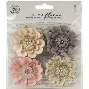 Prima Mulberry Paper Flowers -4 pcs