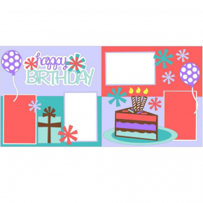 Happy Birthday Bursts Girl kit