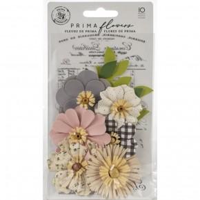 Prima Mulberry Paper Flowers -10 pcs