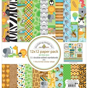 Doodlebug At the Zoo Paper Pack