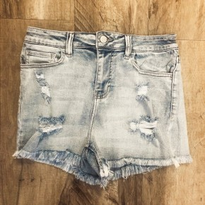 Delilah Denim Shorts - Light Wash