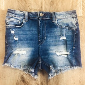 Delilah Denim Shorts - Medium Wash