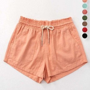 Scout Linen Shorts - Peach