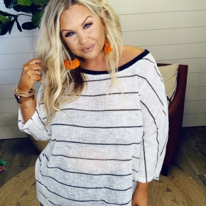 Striped Babe Top