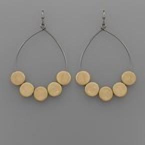 Disk Charm Earrings