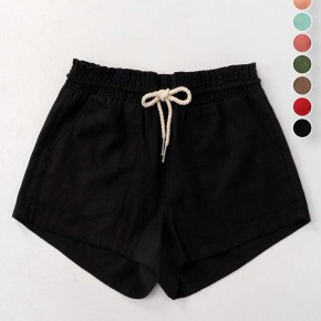 Scout Linen Shorts - Black
