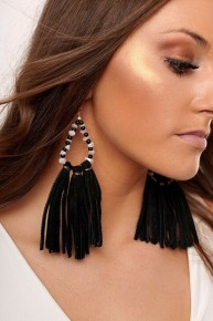 Cowgirl Chic Boho Faux Suede Earrings