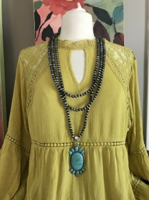 Cabo Turquoise 3 Strands Necklace