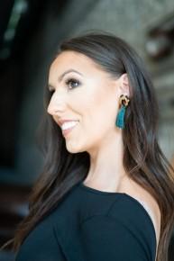 Leopard w/Turquoise Tassel Earrings