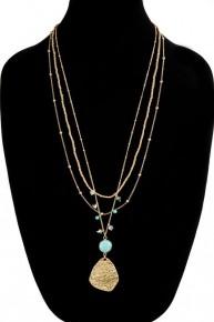 Jessica Triple Layers Stone Necklace