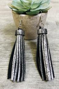 Silver or Gold Tassel Earrings