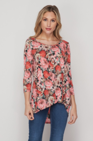 HONEY ME Cover Me in ROSES tie Knot Tunic