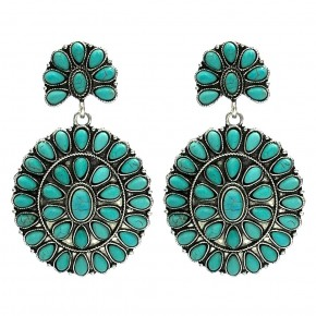 Squash Blossom Earrings Turquoise or White