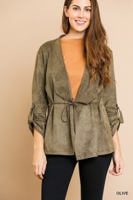 OlIVE Green Faux Suede  Wrap - Stunning