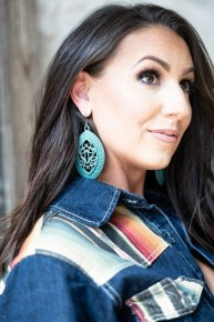 Silver Gold or Turquoise Lasered Cut Earrings