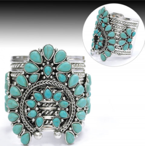 Faux Turquoise Cuff
