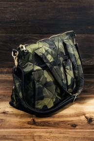Daisy Mae Camo Puffer Handbag