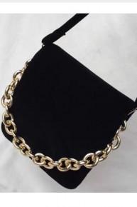 Black Velvet  Bow Tie Bag