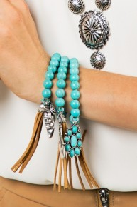 THREE Turquoise Bangle Bracelet - the perfect gift