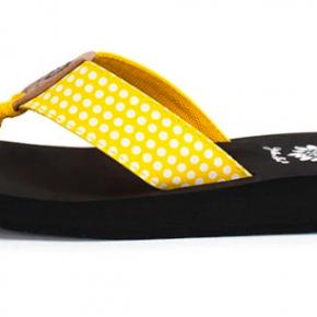 Yellowbox Fromy - Yellow Polkadot Flip Flop