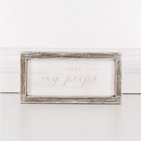 I Love My Peeps Framed Sign