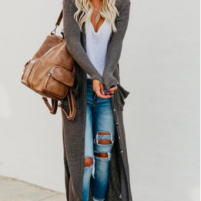 Duster Cardigan with Buttons