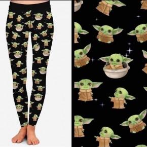 Kids Baby Yoda Leggings