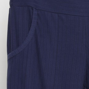 Wide Waist Band Pants in Navy