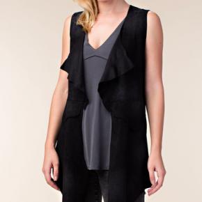 Vocal Black Suede Vest - True to size