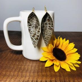 Handmade Leaf Leather Earrings