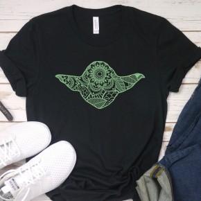 Mandala Baby Yoda Graphic Tee