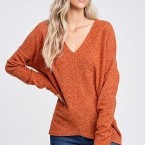 White Birch Dolman Sleeve Solid Knit Sweater