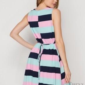 HoneyMe Sleeveless Dress with Back Tie