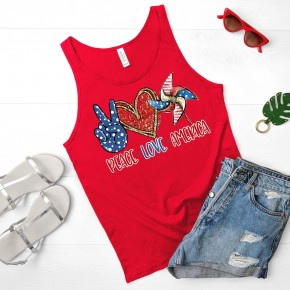Peace | Love | America Graphic Tee and Tank