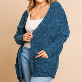 Oversized Cardigan Sweater with Pockets