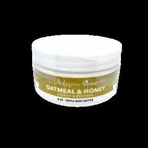 8oz WH Triple Body Butter - Oatmeal & Honey