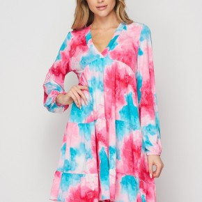 HoneyMe Cotton Candy Clouds Babydoll Dress
