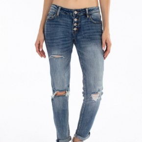 Kancan Benny Mid RIse Girlfriend Fit Jeans