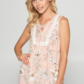 Floral Tank Top in Blush