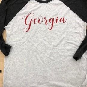 Georgia Baseball Graphic Tee