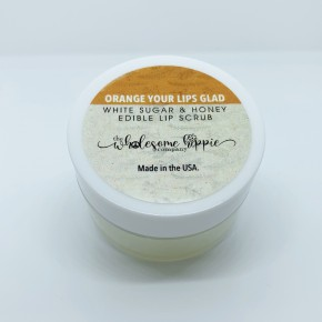 Sugar and Honey Edible Lip Scrub - Orange Your Lips Glad