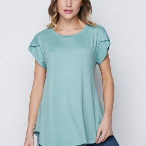 HoneyMe Simple Mint Brushed Top