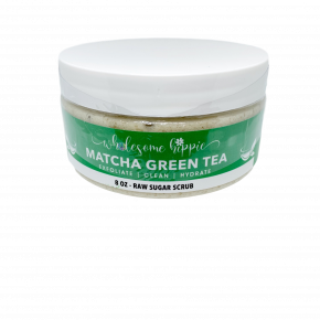 8oz WH Raw Sugar Scrub - Matcha Green Tea & Aloe