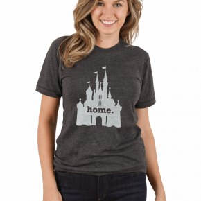 Home at the Castle Graphic Tee in Gray