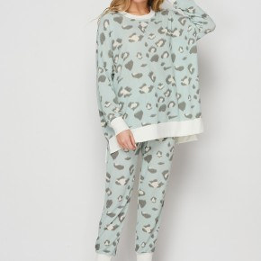 HoneyMe You've Got To Be Kitten Me Joggers in Mint