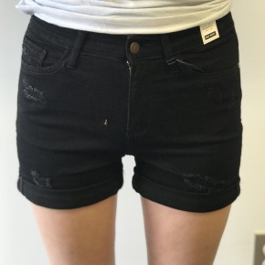 Judy Blue Black Cuffed High Waisted Shorts