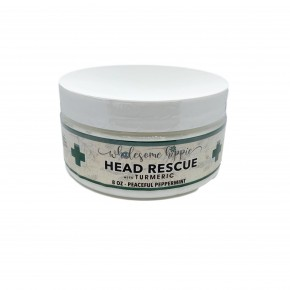 8oz Head Rescue with Turmeric - Peaceful Peppermint