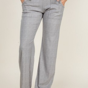 Wide Waist Band Pants in Heather Gray